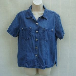Erika M denim shirt with pockets